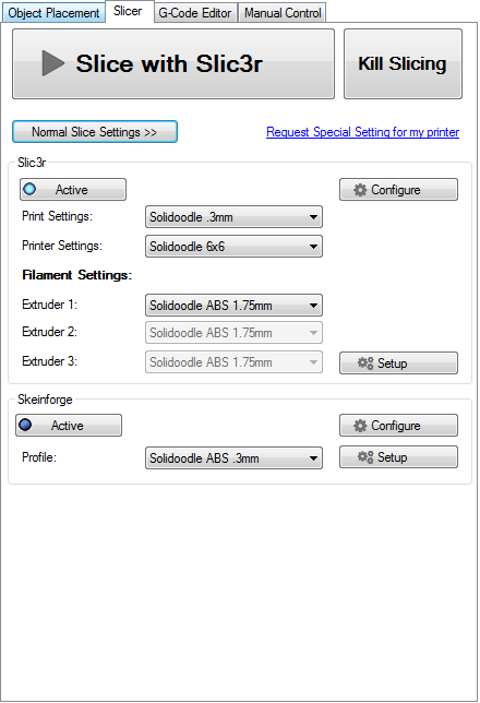 Repetier-Host & Sli3r 3d printing tips - gambody (Pattern)