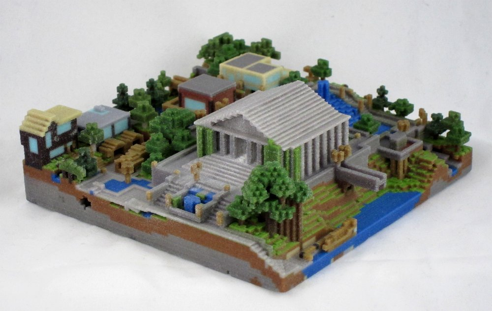 Minecraft 3D Printed Landscape