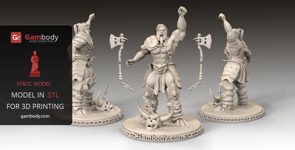 Barbarian Diablo 3D printer design