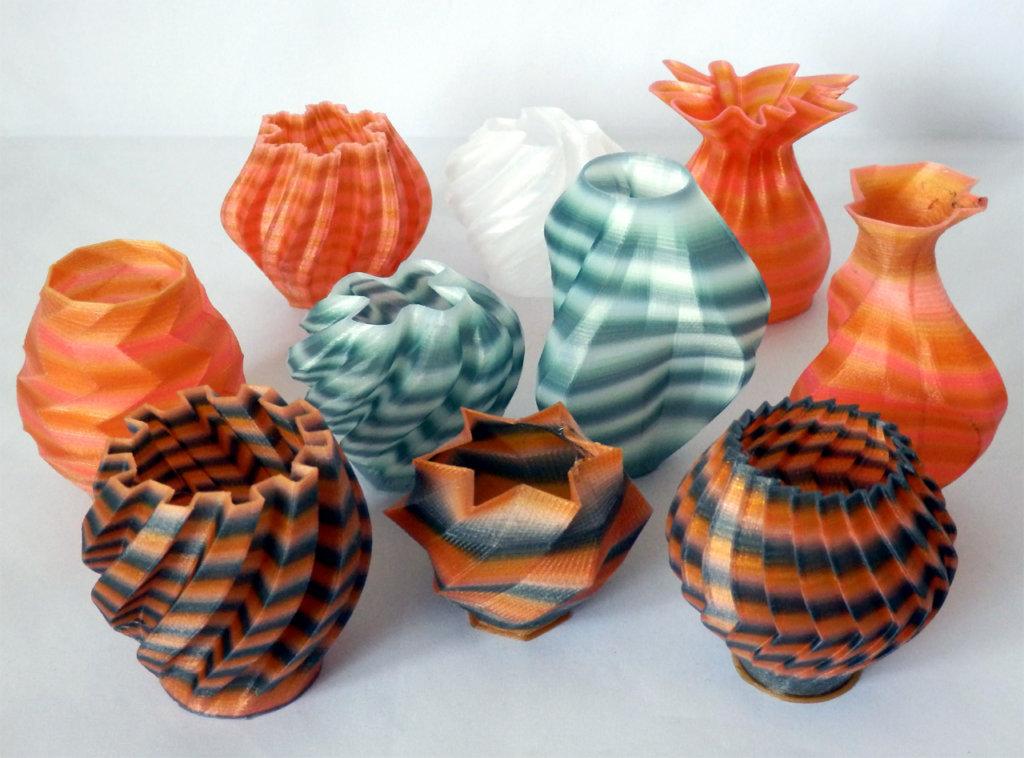 Nylon 3D Printer Filament Colored