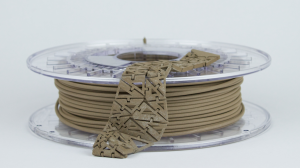 PLA 3D Filament Mixed with Bronze Effect.