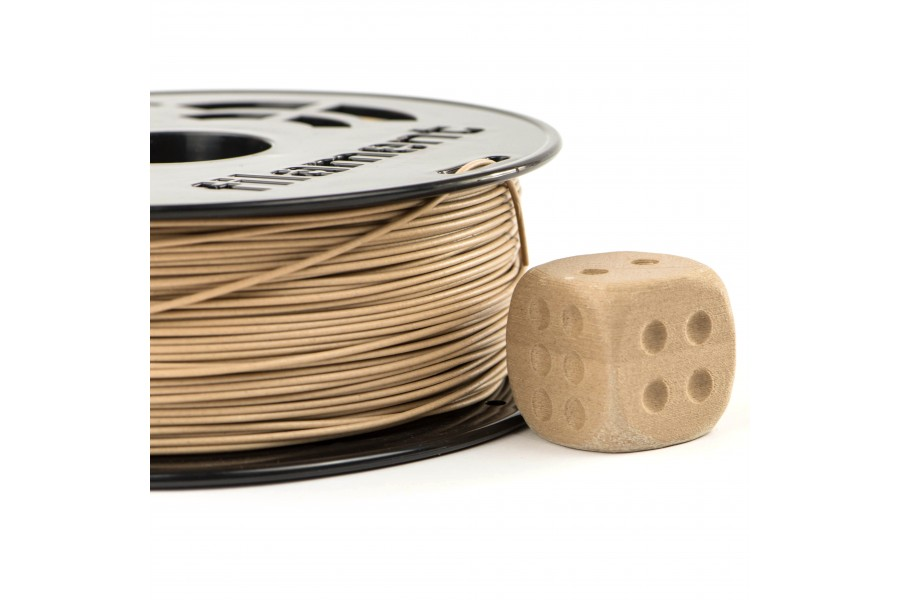 PLA 3D Printing Filament Mixed with Wood.