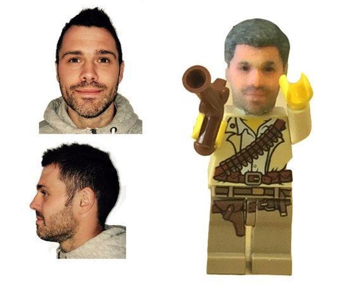 3D Printed Selfie Lego