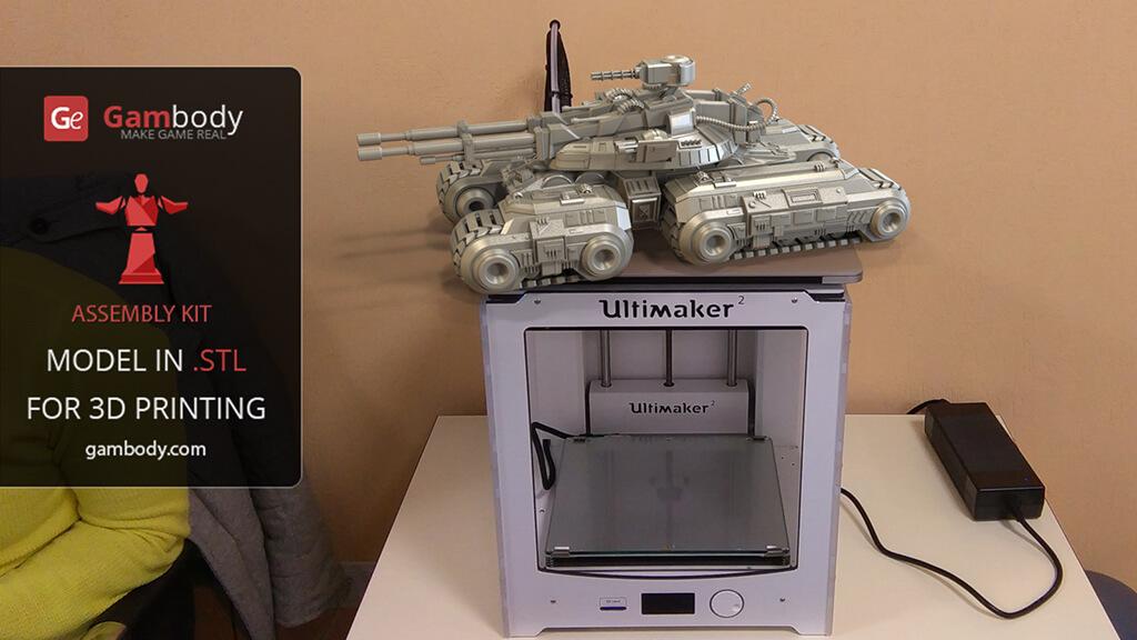3D Printed Mammoth Tank