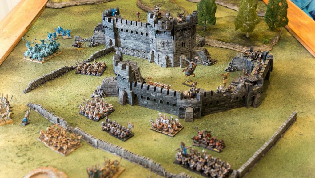 3D Printed War Games Scene.