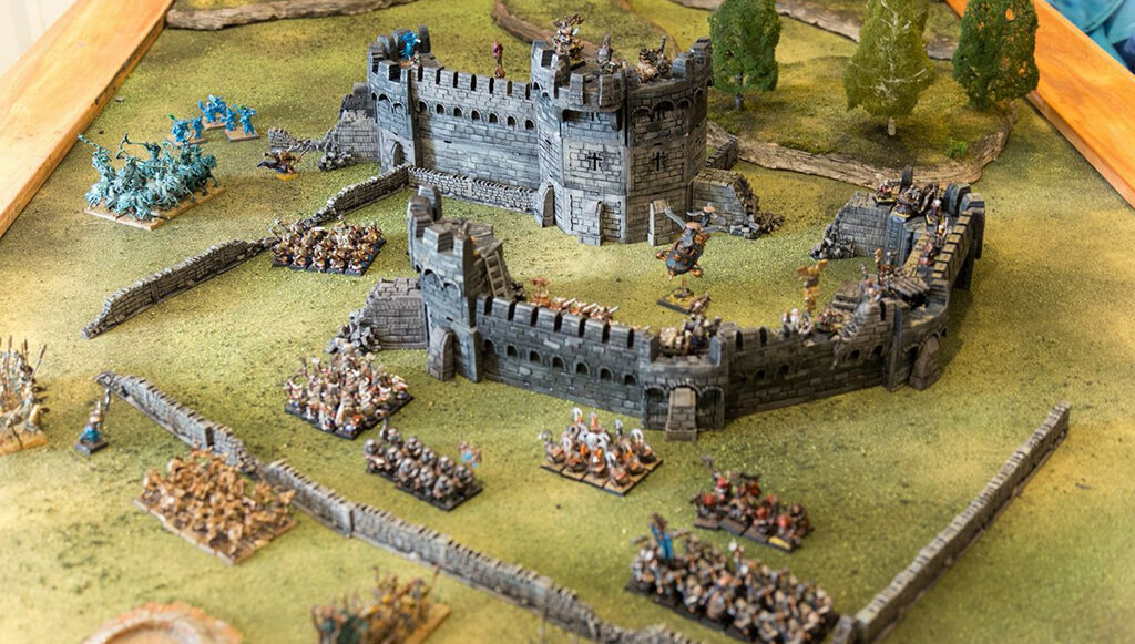 3D Printed War Games Scene