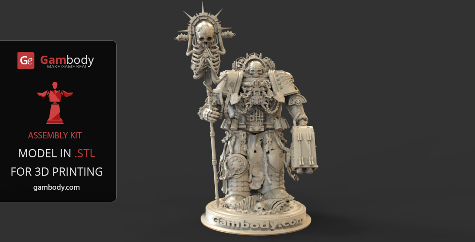 Chaplain 3D model from Warhammer 40k game