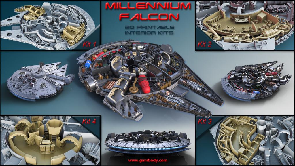 Millennium Falcon Interior Parts Kits