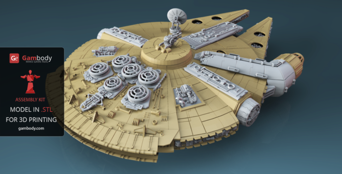Know the 3D Designers who Created the Astonishingly 380-Piece Milennium Falcon Model for 3D Print