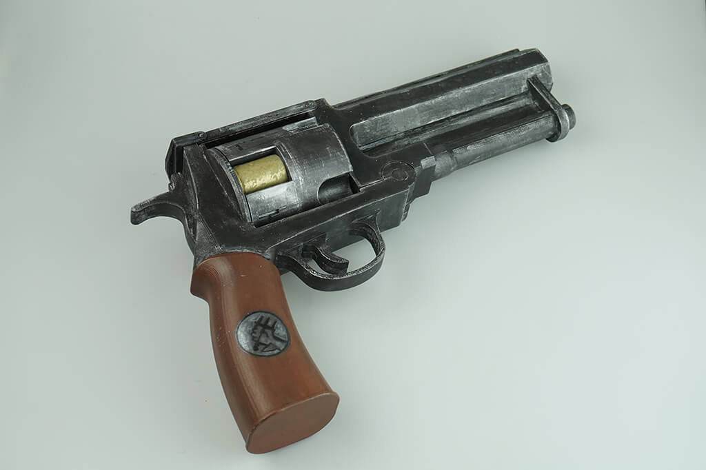 This 3D printable pistol from Hellboy
