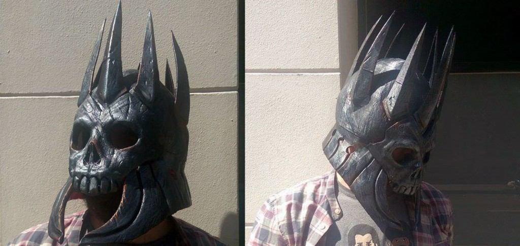 A terrifying helmet in 3D printed form from the Witcher 3 video game will make a perfect cosplay item