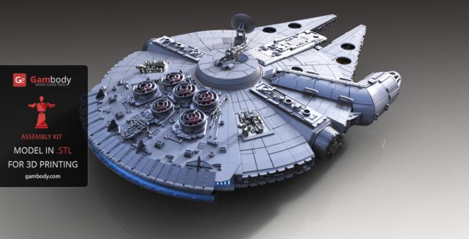 Gambody is Proud to Announce the Releases of the Impressive 40-inch scale Millennium Falcon 3D Model
