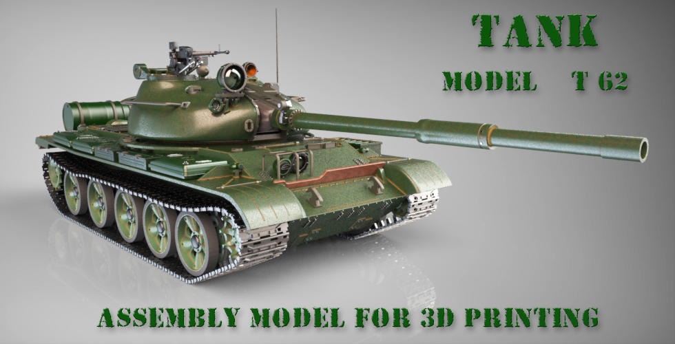Gambody Releases the Most Detailed, 490mm Scale 3D Model of T-62 Tank