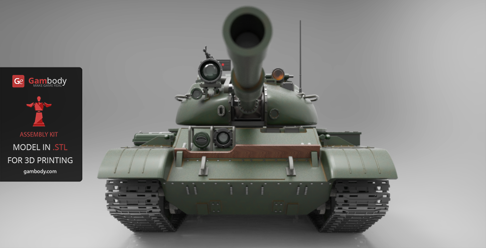 Gambody Releases the Most Detailed, 490mm Scale 3D Model of T-62