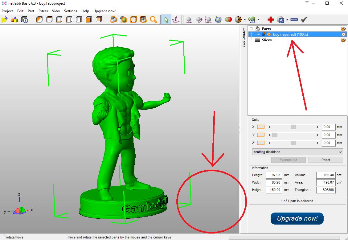 Prepare model for 3d print.