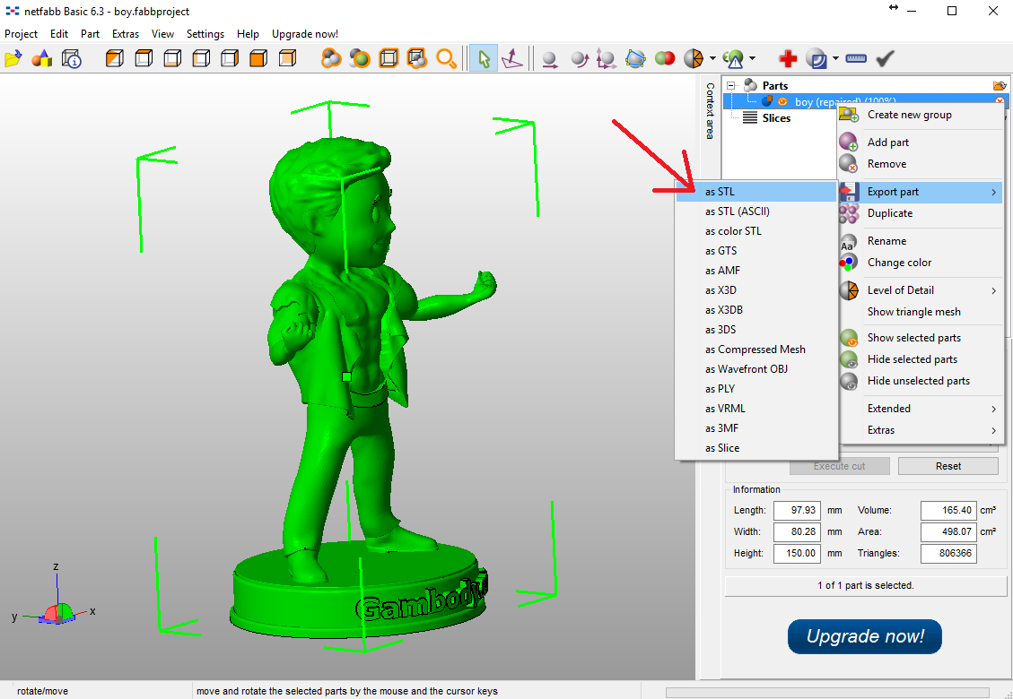 Export 3D Models in STL Files and Prepare for 3D Printing Guide