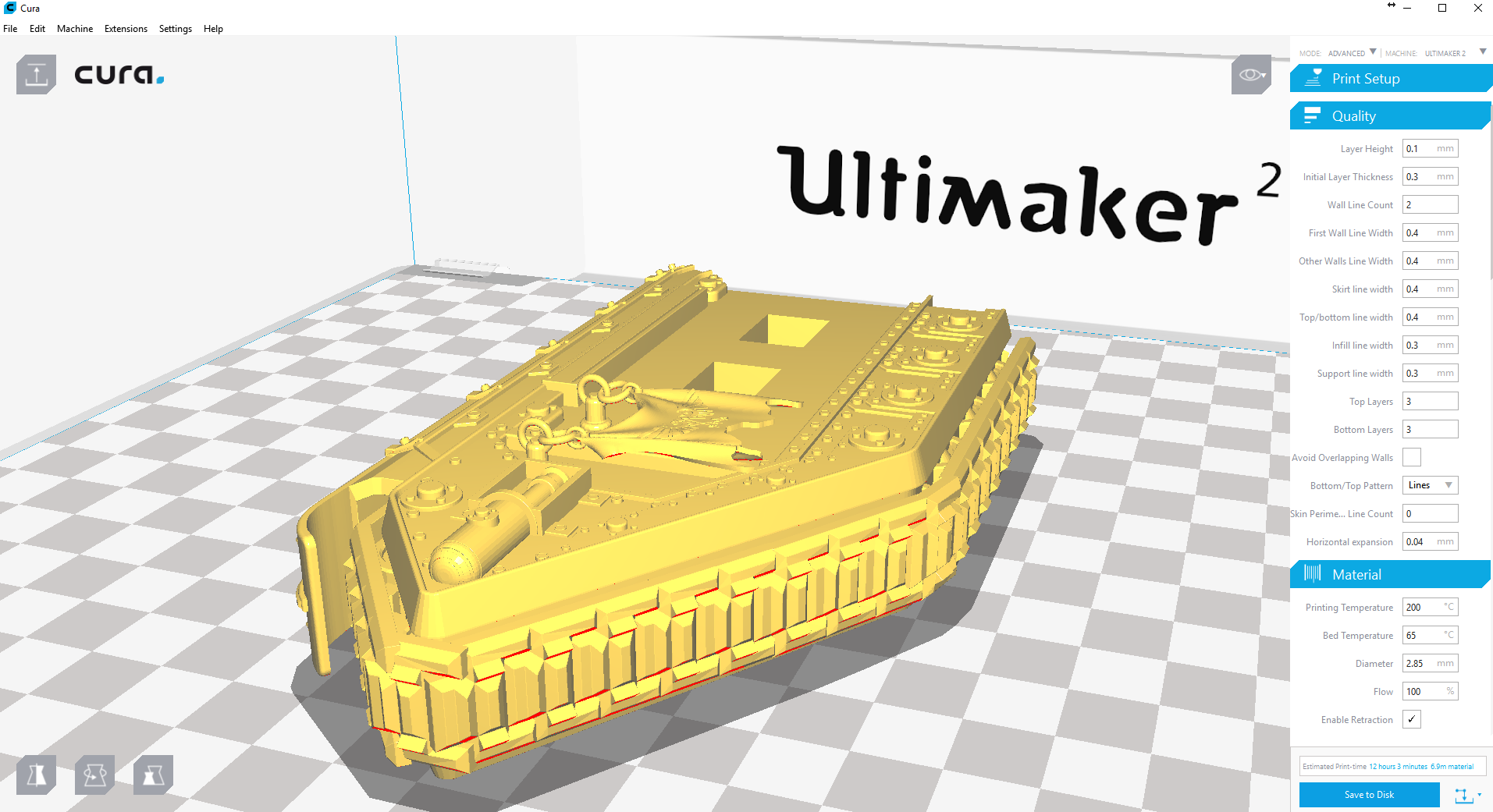 Upload file in Cura software