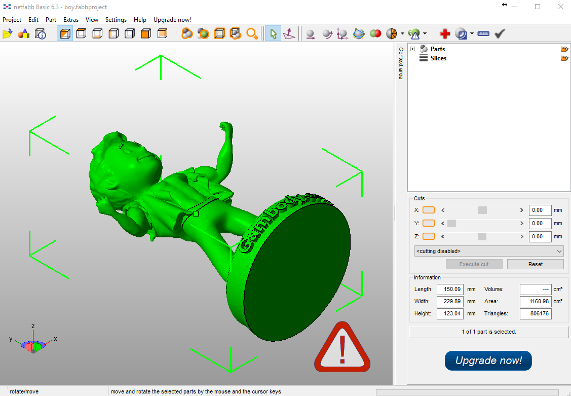 Open STL file In Netfabb