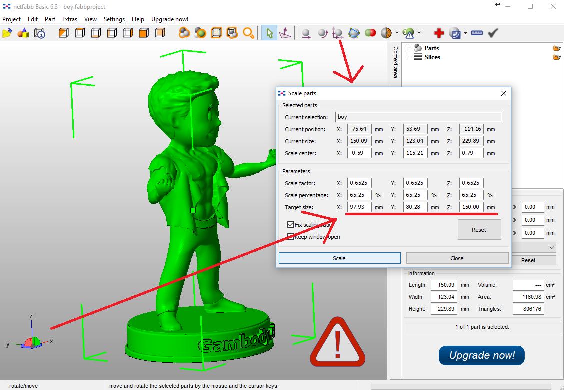 Prepare model for 3d printing.