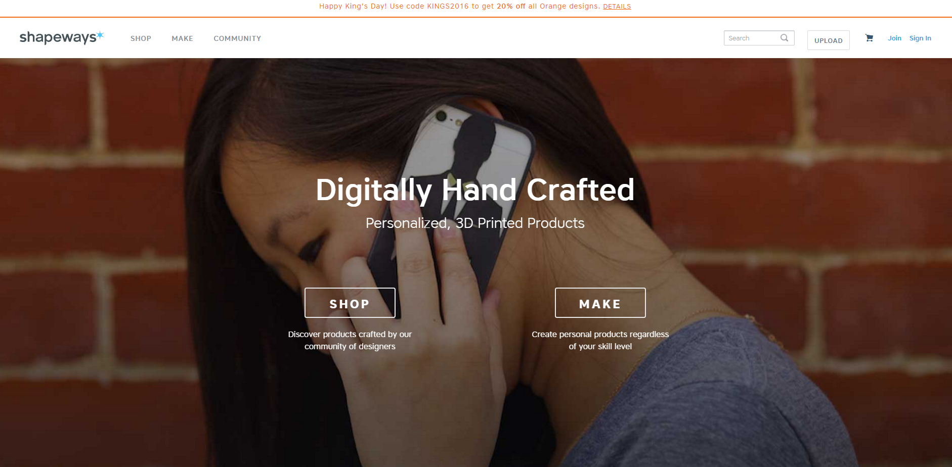 Shapeways offers 3D printing services for all thos who don't own a 3D printer and ships printed objects worldwide
