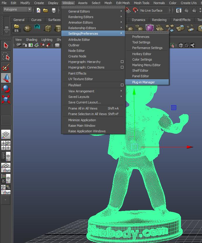 Autodesk Maya Screenshot- Vault Perks.