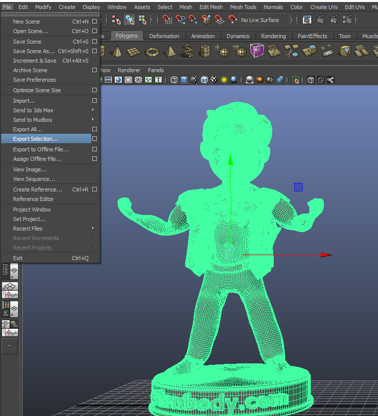 Autodesk Maya Modeling.