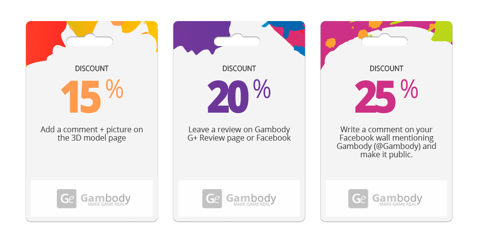 Gambody challenges you to share your 3D prints with the entire world