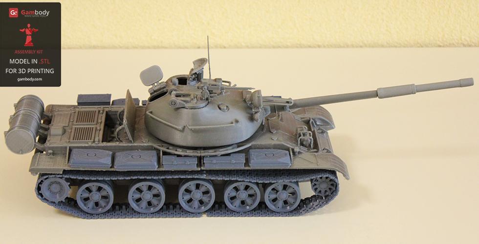 Print design of T-62 Soviet tank