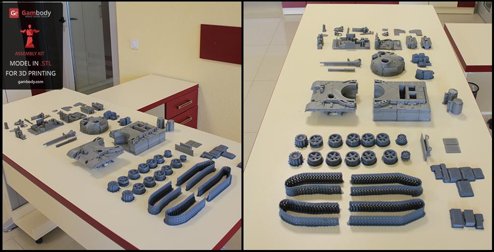All 3D printed parts of T-62 3D model