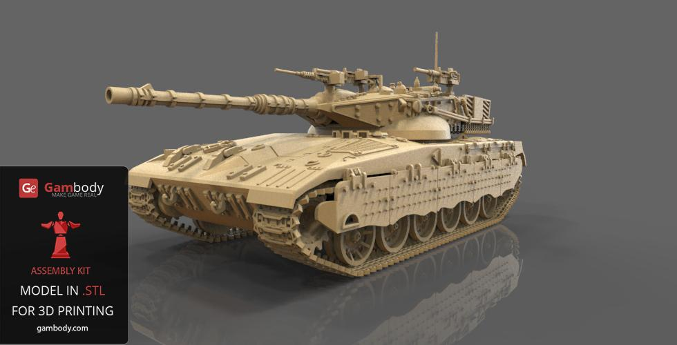 Merkava 3D Model is Added to Gambody's Armoured Warfare Collectibles