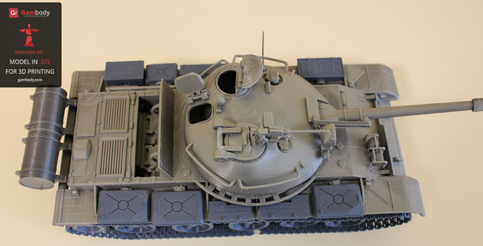 T-62 3D model - view from top