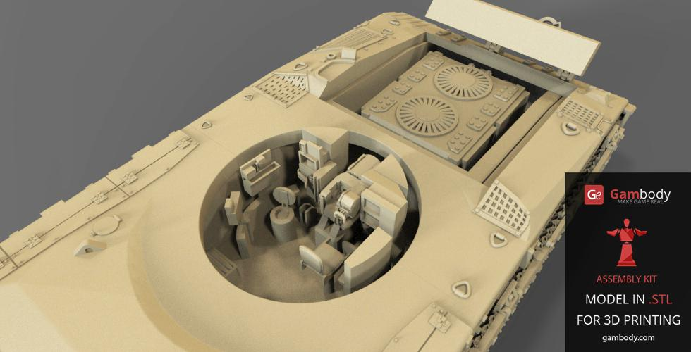 Merkava Interior Layout 3D Printable.