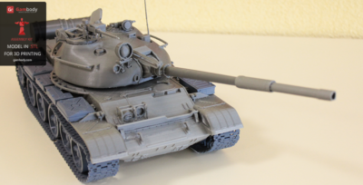 Printed T-62 3D Model – Press Release by Gambody