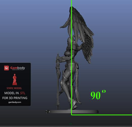 Wall thickness: Kayle 3D model 90 degree