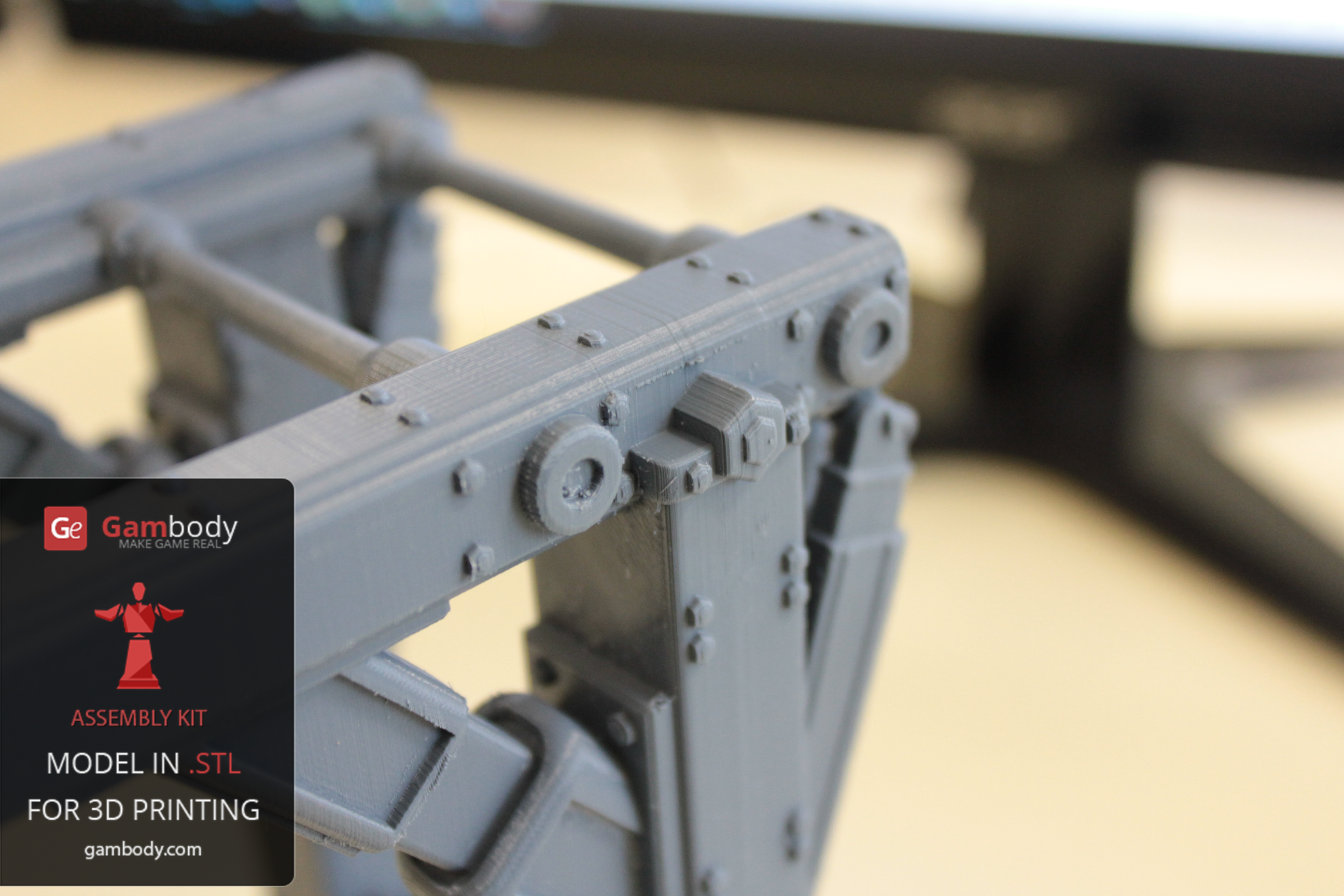 3D printed part.