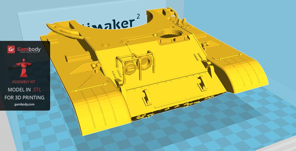 T-62 3d model's hull 3d printed