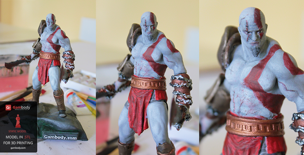 Lifelike Painted Kratos 3D Model – Press Release by Gambody