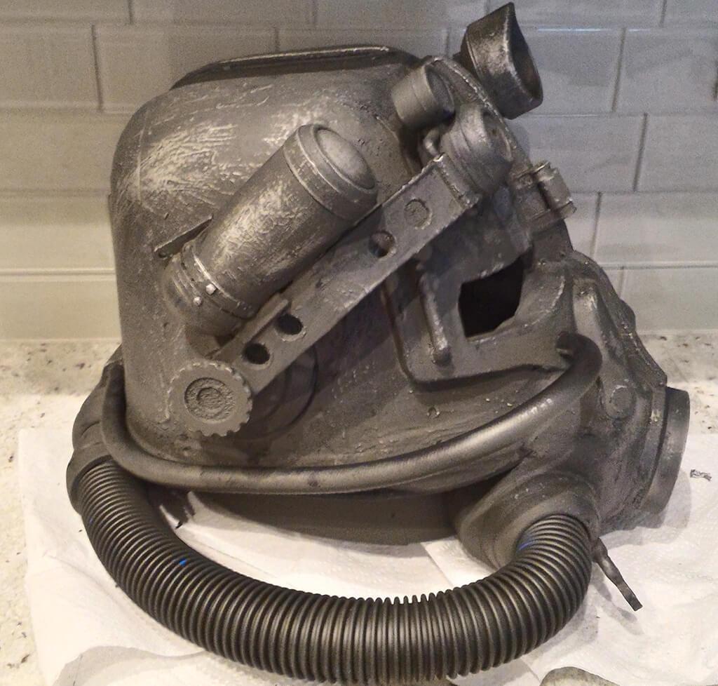 3D printed T-45 power armor helmet