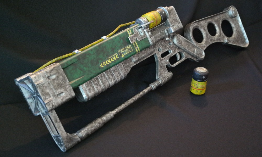 Laser rifle prop from Fallout