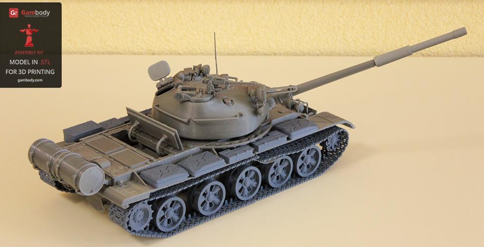 3D printed T-62 model