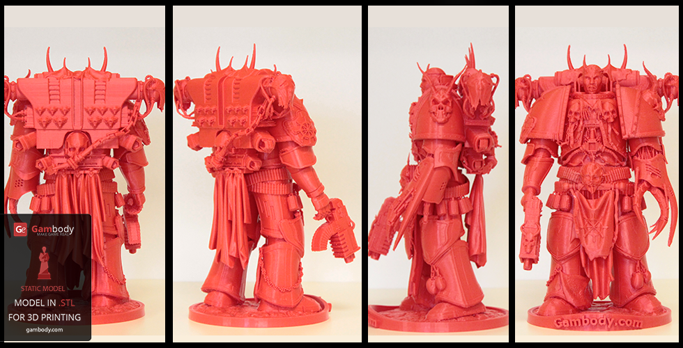 3D printer files of warhammer space marine model