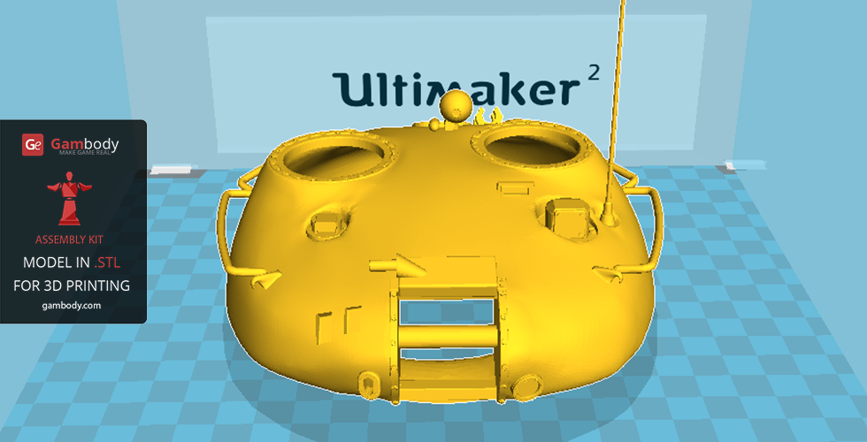 T-62 turret 3D printed