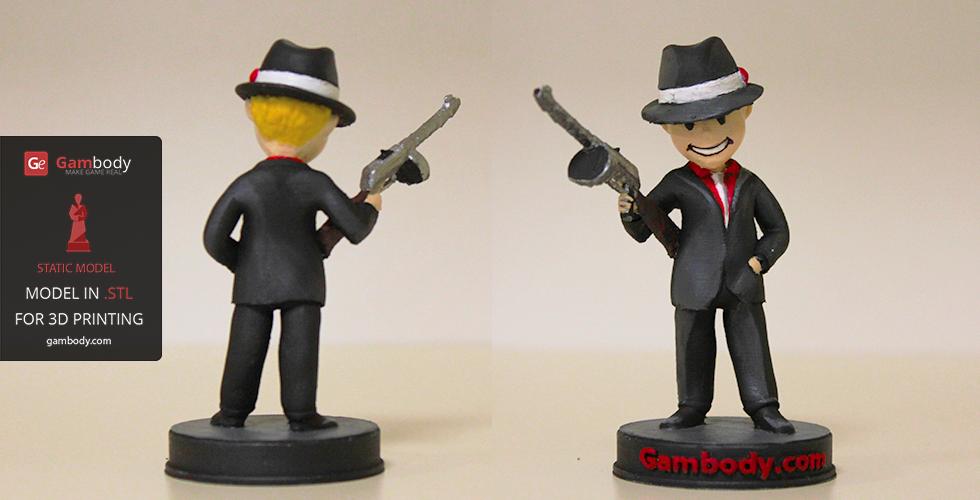 Fallout Gangster Vault Boy 3D model