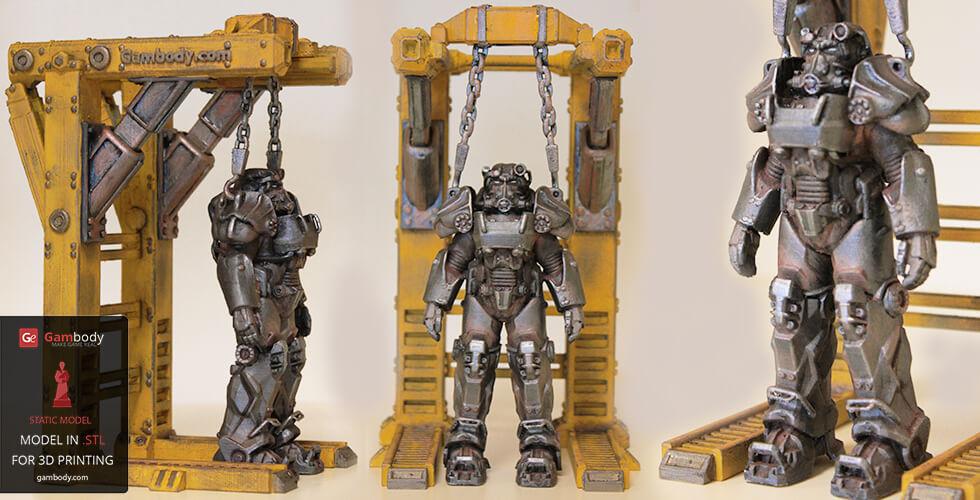 Fallout T-60 Power Armor 3D model