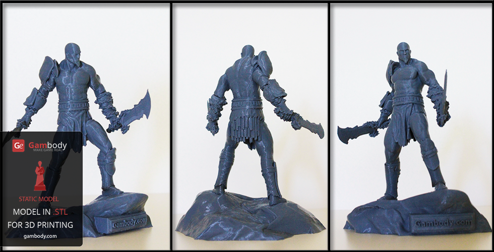 3D printed video game figurine from God of War