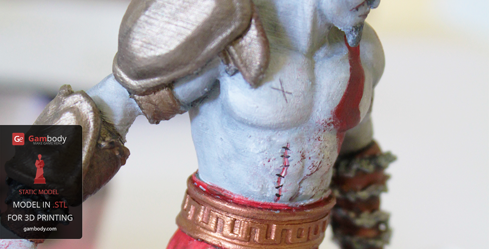 God of war painted 3d figurine