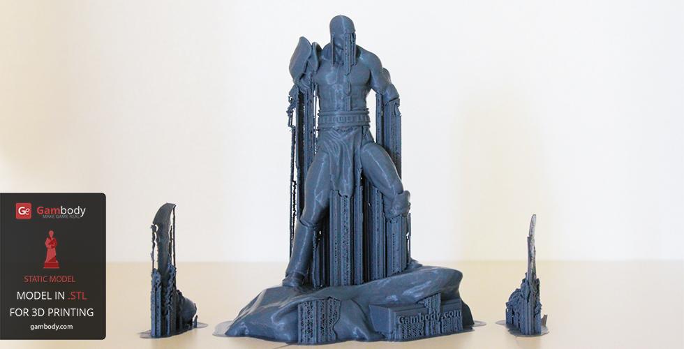 Support printed Kratos 3D print model