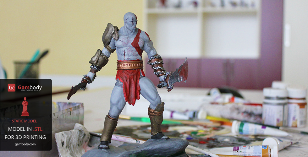 Kratos from God of War 3D printed miniature files gambody