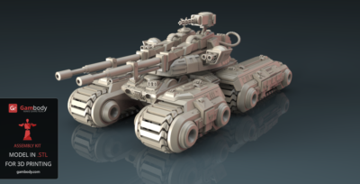 Mammoth Tank STL Files up for Sale – Press Release by Gambody
