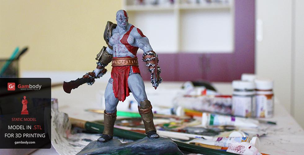 Painted Kratos 3D print model